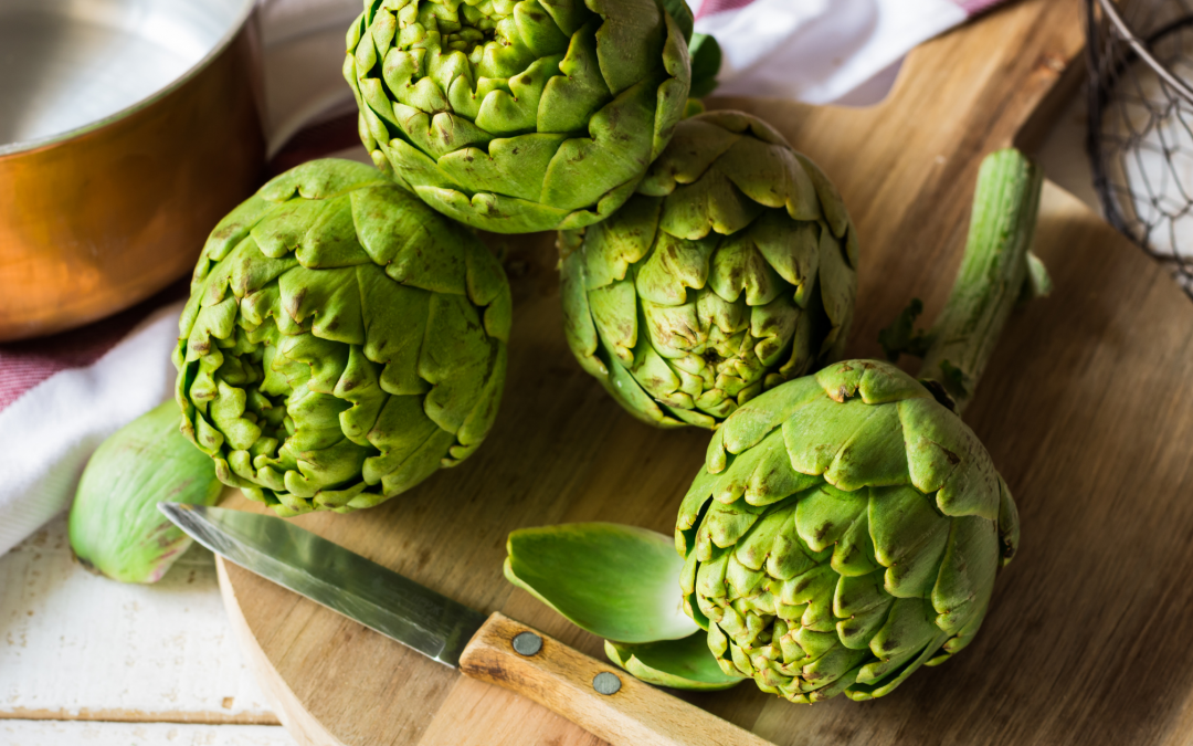 Steamed Artichokes with Lemon-Honey Dipping Sauce