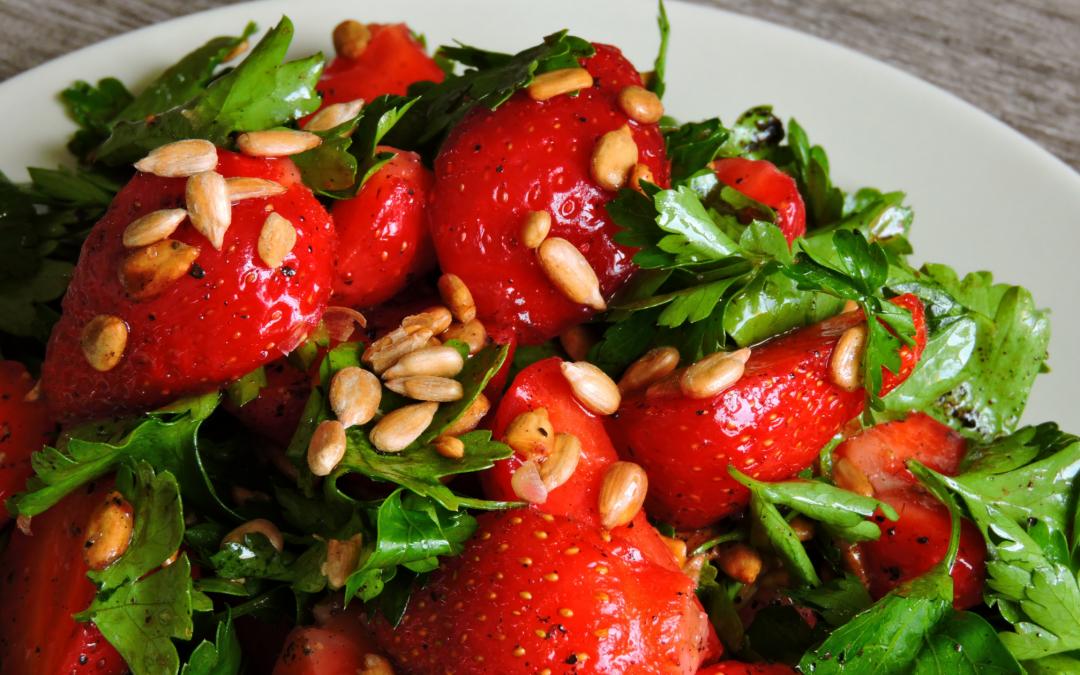 Strawberry Salad with Lemon Dressing